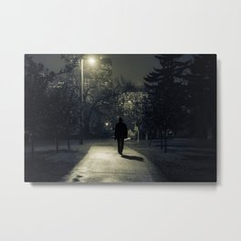 winter walk; morning commute Metal Print