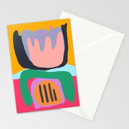 Shapes and Layers no.26 - Modern Abstract Flowers Stationery Cards