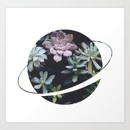 Planet Art Series - Blooming planet Art Print