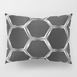 Gray and silver octagon pattern Pillow Sham