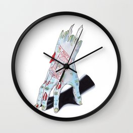 Zombie Girl Wall Clock