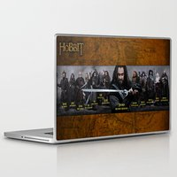 thorin Laptop & iPad Skins featuring the dwarves,hobbit,lord of the rings,thorin,#thehobbit, #lordoftherings by ira gora