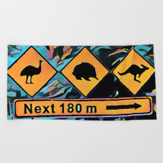 Animals Beach Towel