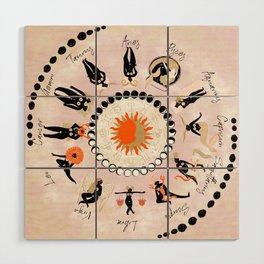 Zodiac Wheel Wood Wall Art