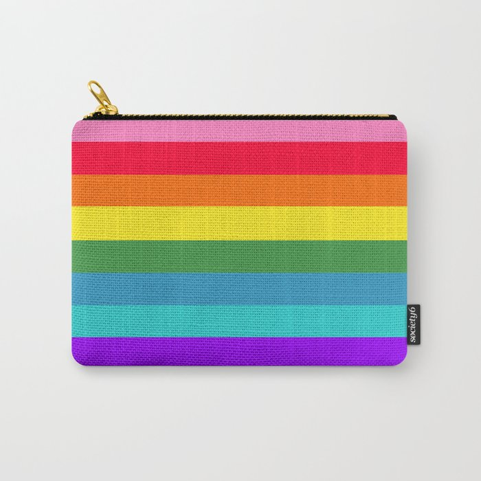Vibrant Rainbow Stripes Carry-All Pouch