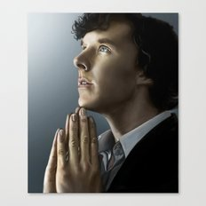 Sherlock in thought Canvas Print