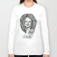 ginger Long Sleeve T-shirts featuring Ginger by Taylor Bryn Illustration