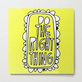 Rule #1: Yellow Metal Print