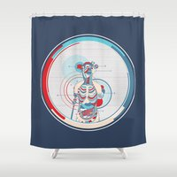 anatomy Shower Curtains featuring Anatomy by infloence