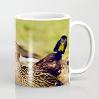 duck Mugs featuring duck by LainPhotography