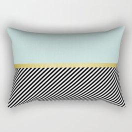 Golden blue pattern Rectangular Pillow