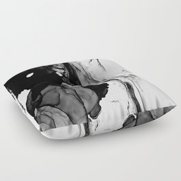 Soft Black Marble Floor Pillow
