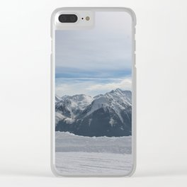 Wunderfull Snow Mountain(s) 3 Clear iPhone Case