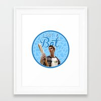 stiles stilinski Framed Art Prints featuring Stiles Stilinski - Bat by JulietteGD