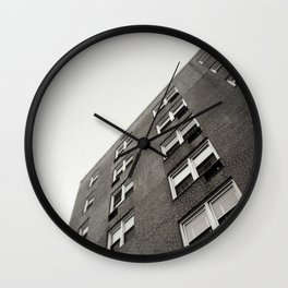 Brick Building Angle in New York City Wall Clock