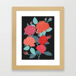 Rose Garden - Dark Framed Art Print