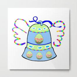 Winged Bell and  Egg Metal Print