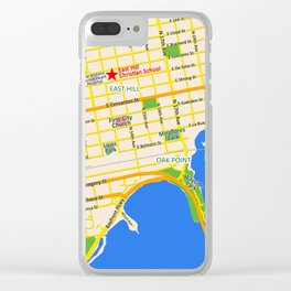 Map of Pensacola, FL - East Hill Christian School Clear iPhone Case