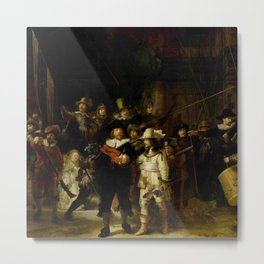 Rembrandt, The night watch, de nachtwacht Metal Print