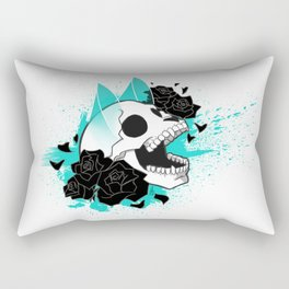 Skull 'n' Roses (ScribbleNetty-Colored) Rectangular Pillow
