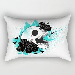 Skull 'n' Roses (ScribbleNetty-Colored) Rectangular Pillow