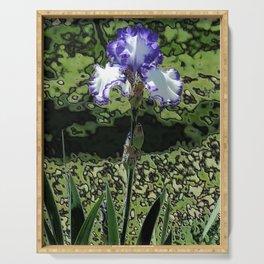 Single Iris - Abstract Serving Tray
