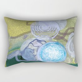 ABSTRACT DIGITAL PAINTING WITH COLORS MADE BY ARTIST Rectangular Pillow
