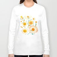 daisies Long Sleeve T-shirts featuring Daisies by maria carluccio