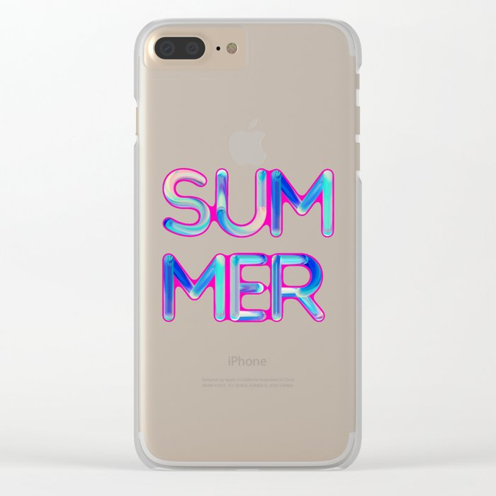 Pink Summer Clear iPhone Case