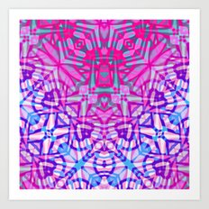 Ethnic Tribal Pattern G327 Art Print