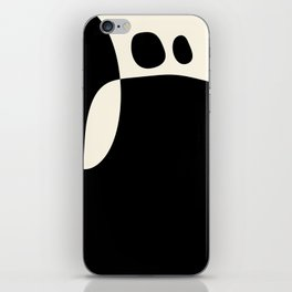 shapes black white minimal abstract art iPhone Skin