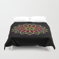 stained glass Duvet Covers featuring Stained Glass by Designs By Misty Blue (Misty Lemons)