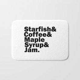 Starfish & Coffee & Maple Syrup & Jam Bath Mat
