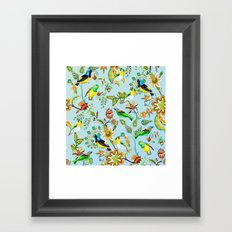 Colourful Birds Chintz Multicolour Framed Art Print