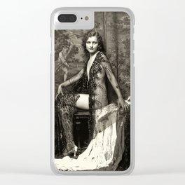 Erotique La Femme Vintage Nude Art Studies No.70 Clear iPhone Case