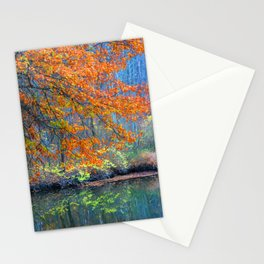 Fall on the River Stationery Cards