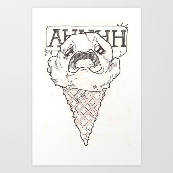I scream ice cream Art Print