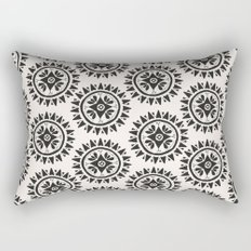 Bohemian Medallions - Dark gray and cream Pattern Rectangular Pillow