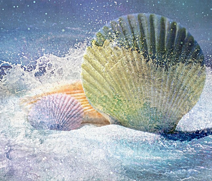 Subtle Sea Splash Metal Travel Mug