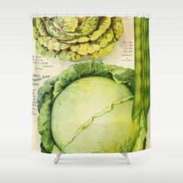 Vintage Vegetable Advertisement (1907) Shower Curtain