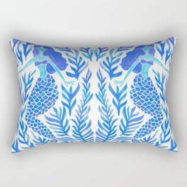 Kelp Forest Mermaid – Blue Palette Rectangular Pillow
