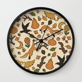 Orange You Glad It's Fall? (full color) Wall Clock