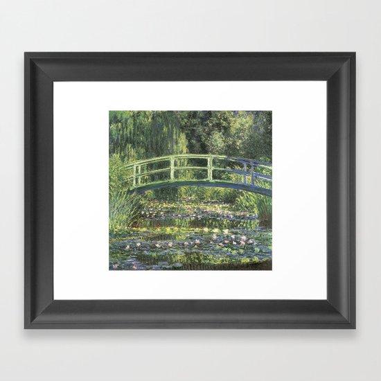 Vintage Monet Bridge  Framed Art Print