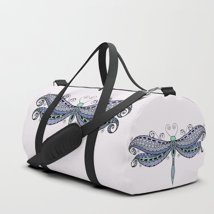 Dragonfly dreams purple Duffle Bag