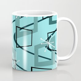 Mid Century Modern Minimalism Turquoise Coffee Mug