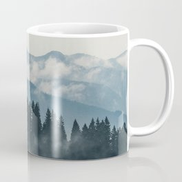 Forest mountains fogs & clouds Coffee Mug