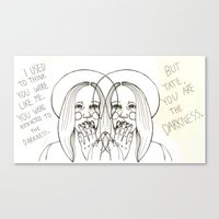 ahs Canvas Prints featuring Violet AHS by Luna Perri