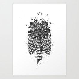 New life (b&w) Art Print