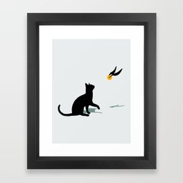Cat and Snitch Framed Art Print