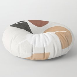 Moon and Sun Abstract Floor Pillow